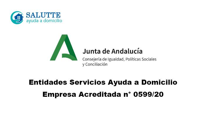 Salutte acreditada como entidad prestadora del Servicio de Ayuda a Domicilio en Andalucía